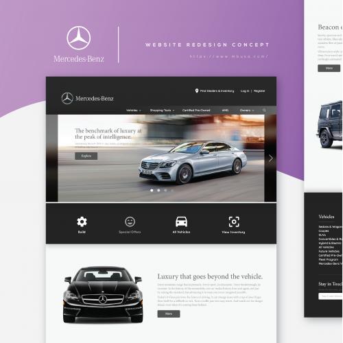 Mercedes-Benz Website Redesign Concept
